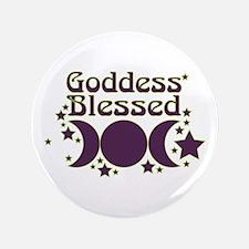 "Goddess Blessed 3.5"" Button"