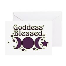 Goddess Blessed Greeting Card