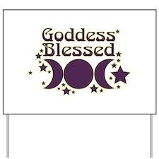 Goddess Blessed Yard Sign