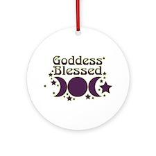 Goddess Blessed Ornament (Round)