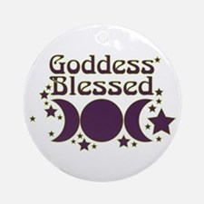 Goddess Blessed Ornament (Round)