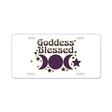 Goddess Blessed Aluminum License Plate