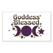 Goddess Blessed Decal