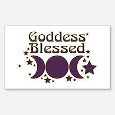 Goddess Blessed Sticker (Rectangle)