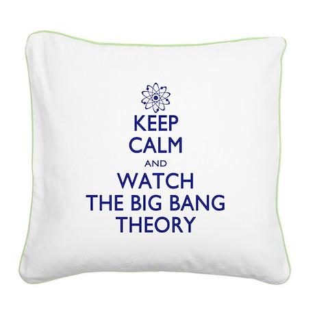 Keep Calm Big Bang Theory Square Canvas Pillow
