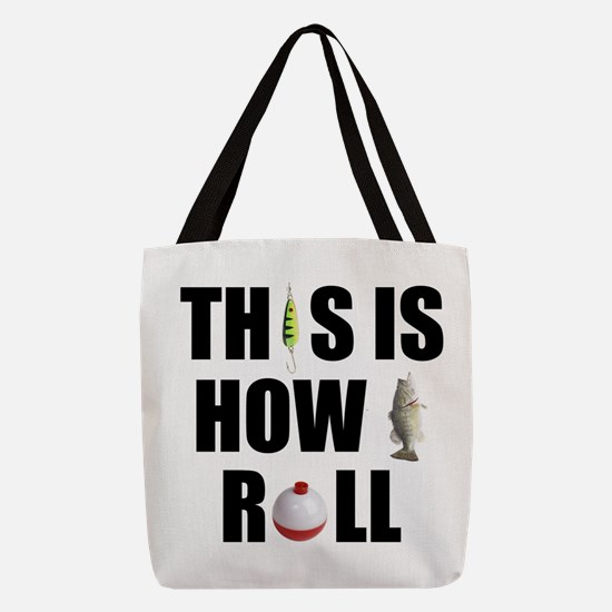 How I Roll Fishing Polyester Tote Bag