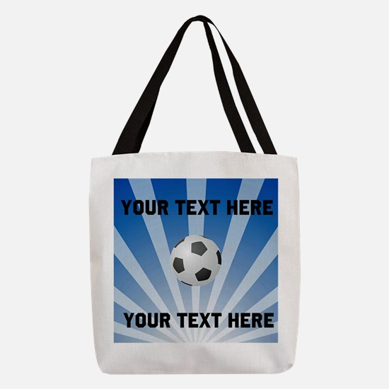 Personalized Soccer Polyester Tote Bag