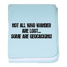 Not all Who Wander... baby blanket