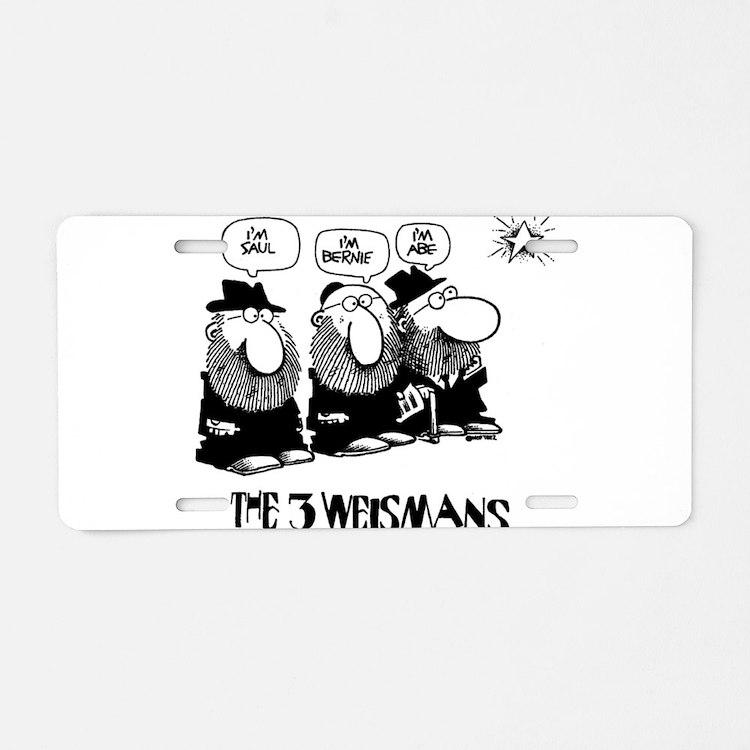 The 3 Weisman Aluminum License Plate