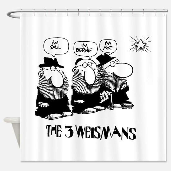 The 3 Weisman Shower Curtain
