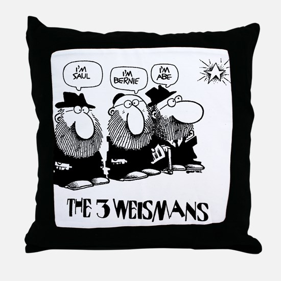 The 3 Weisman Throw Pillow