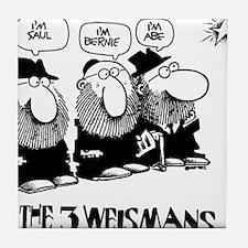 The 3 Weisman Tile Coaster