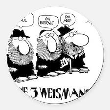 The 3 Weisman Round Car Magnet
