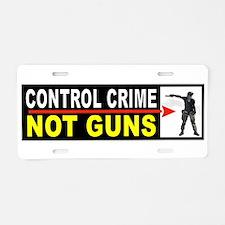 CRIME CONTROL Aluminum License Plate