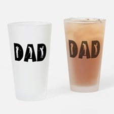 Cute Father Drinking Glass