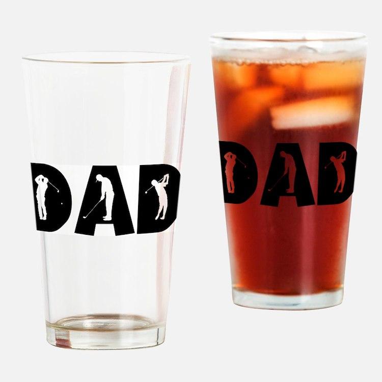 Cute Golf dad Drinking Glass