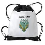 Beer Frame Drawstring Bag