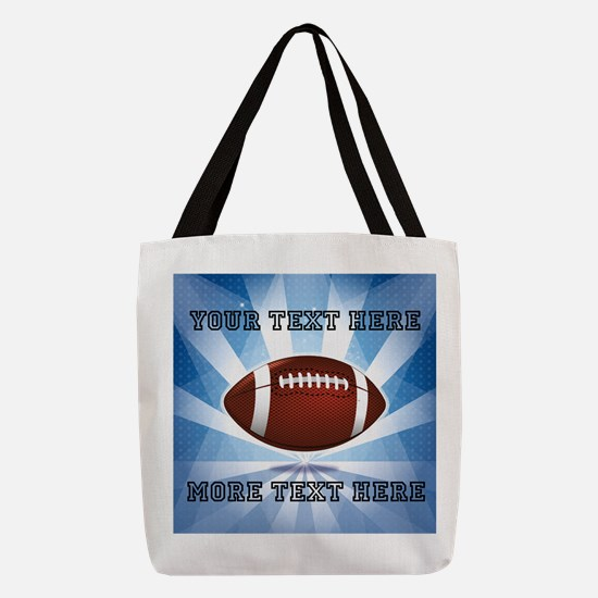 Personalized Football Polyester Tote Bag