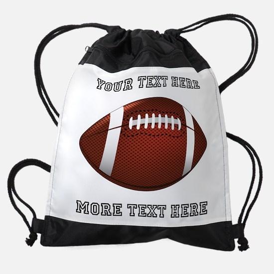Personalized Football Drawstring Bag