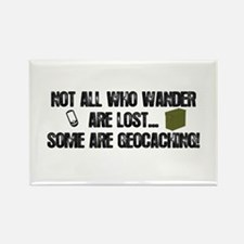 Not all who wander Rectangle Magnet