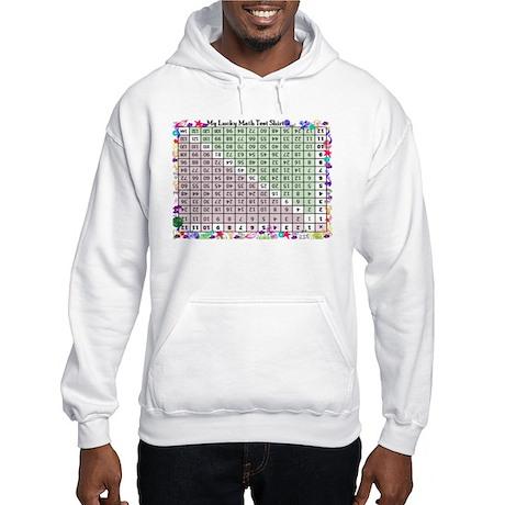 Upside down math chart Hooded Sweatshirt