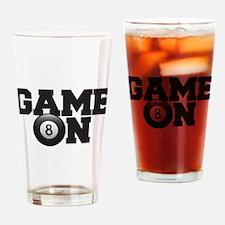 Game On Billiards Drinking Glass