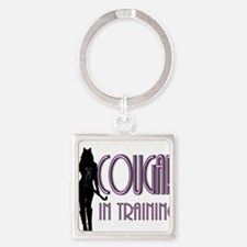 cougar.png Square Keychain