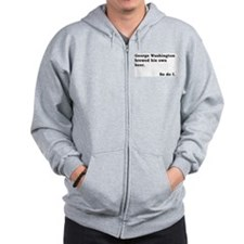 George Washington Beer Zip Hoodie
