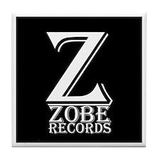Zobe Records Logo 1 Tile Coaster