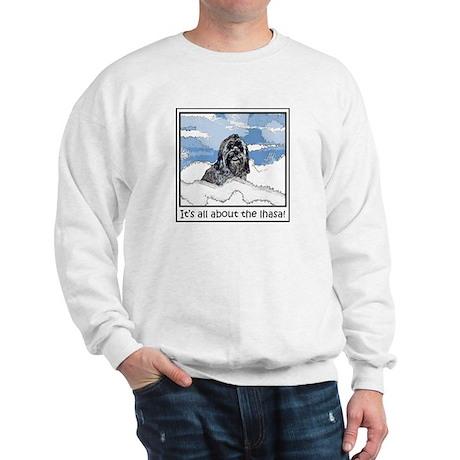 Lhasa Apso Christmas Blitz About Sweatshirt