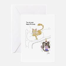 Cat/Dog Birthday Card Greeting Card