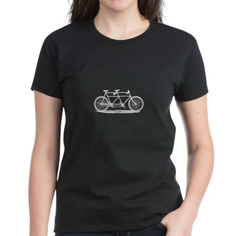 Tandem Bicycle Women's Dark T-Shirt
