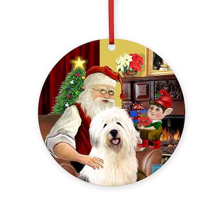 Santa's OES Ornament (Round)