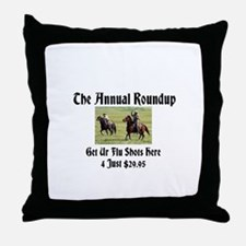 The Annual Roundup Throw Pillow