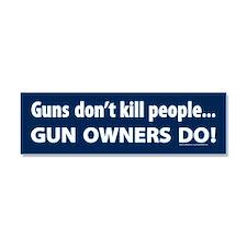 Gun control Car Magnet 10 x 3