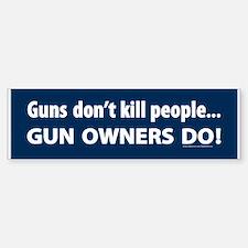 Gun control Bumper Bumper Bumper Sticker