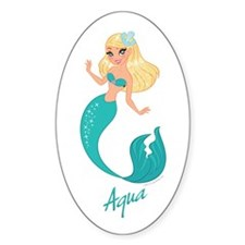 Aqua Mermaid Decal