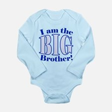 Big Brother Blue Long Sleeve Infant Bodysuit