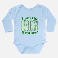 Big Brother Green Long Sleeve Infant Bodysuit