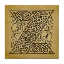 Celtic Letter Z Tile Coaster