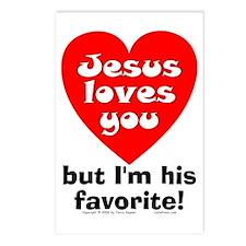 Jesus/His Favorite Postcards (Package of 8)