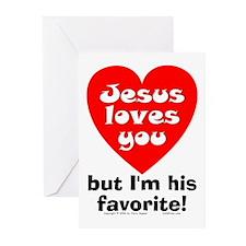 Jesus/His Favorite Greeting Cards (Pk of 10)