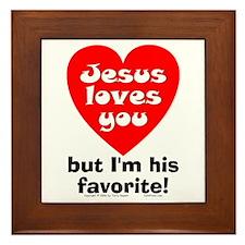 Jesus/His Favorite Framed Tile