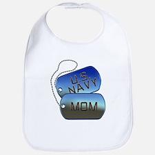 Navy Mom - Mother Dog Tag Bib
