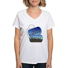 Navy Mom - Mother Dog Tag Shirt