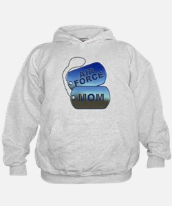 Air Force Mom - Mother Dog Tag Hoodie