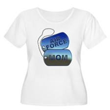 Air Force Mom - Mother Dog Tag T-Shirt