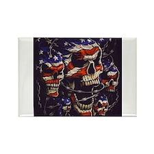 All American Skulls Rectangle Magnet
