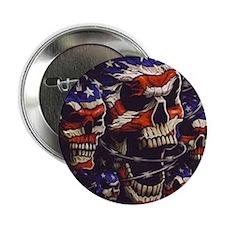 "All American Skulls 2.25"" Button"