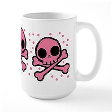 Cute Pink Skulls And Crossbones Mug